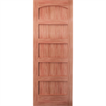 Arched 5-Panel Wood Door - Interior Commercial / Residential with Fire Options - A3050