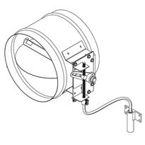 REMOTE MANUAL CONTROL DAMPER, SINGLE BLADE-ROUND (Pottorff