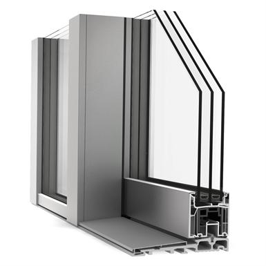 Schiebetuer dreiteilig pvc alu internorm ks430 g for Internorm g wert