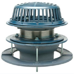 "Z100-C-EA 15"" Diameter Main Roof Drain, with Low Silhouette Dome, Underdeck Clamp and Adjustable Extension"