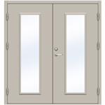 Steel Door SDE4210 GS1F - Double Equal