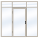 Steel Door SD4220 P65 EI30 Single-LeftRightOver