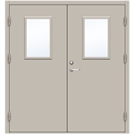 Steel Door SD4210 GS1T - Double Equal