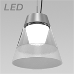KONE 3 LARGE CLEAR LED PENDANT LUMINAIRE - KLP34