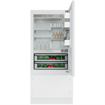 Vertigo Collection - 90 Cm Built-In Bottom Mount Refrigerator KCVCX 20901L