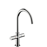 AXOR Uno² 2-handle basin mixer 230 with pop-up waste set and swivel spout with 360° range