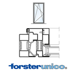 Window Forster unico, frame 30mm, Single-leaf