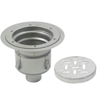 Floor Drain with 12in. Round Top, with Surface Membrane Clamp, Shallow Body - BFD-540