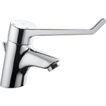 CERAPLUS anti vandal single lever one hole basin mixer with pop-up waste