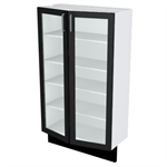 35-125 Design Cabinets Glass Doors