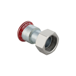 Geberit Mapress CS Adaptor with union nut nickel-plated