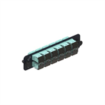 1000-Type Adapter Panel, with 12 LazrSPEED MM Duplex LC Adapters, Aqua
