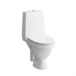 KOMPAS Floorstanding WC combination, rimless, washdown, without fixing holes