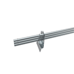 Snow guard fence pipe system for concrete tile roofs