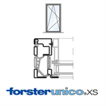 Window Forster unico XS, frame 8mm, Single-leaf