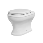 Charme floor trap wc with adjustable flush system