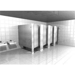 Powder-Coated Toilet Partition Floor mount
