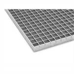 Entrance grating A22x22 with kerb angle frame L-30x30x3