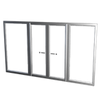 Frame double swing door - surface mounted