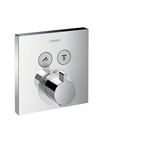 Hansgrohe ShowerSelect Thermostatic mixer for concealed installation for 2 functions