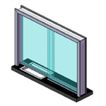 ARMORTEX® Aluminum Transaction Sliding Window