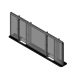 ARMORTEX® Aluminum Baffle Transaction Window System