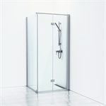 Forsa Corner shower with folding screen fixed wall/door 90x80