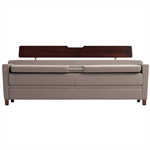 Wieland Allay® sleep sofa, upholstered arm with cap