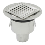 Bottom Outlet Shower Drain with Square Top - BSS-300