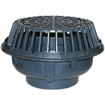 "Z101 20"" Diameter Main Roof Drain Low Silhouette Dome"