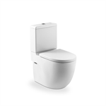 Back to wall vitreous china close-coupled WC with dual outlet