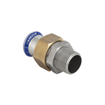 Geberit Mapress SS Adaptor union with male thread, nut made of brass