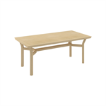 Wieland Trace table with wood frame, Wood End Tables and Wood Coffee Tables
