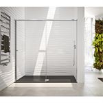 Duscho Gravity - 1 Fixed + Slider door for shower