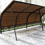 Revet, bicycle shelter, 5 bicycles