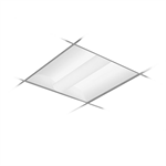 Arioso LED Ribbed Acrylic: 2x2