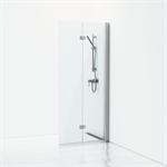Forsa Folding shower screen with door 80