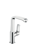 31087000 Metris Single lever basin mixer 230 with pop-up waste set
