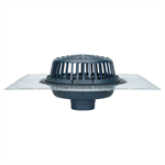 "Z100-DP 15"" Diameter Main Roof Drain, Low Silhouette Dome with Top-Set® Deck Plate"
