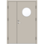 Steel Door SDE4210 GS2R - Double Unequal