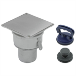 Floor Cleanout with Square Top for Vacuum Handle - BCO-120