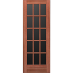 15-Lite Wood French Door - Interior  Commercial / Residential with Fire Options - K6080