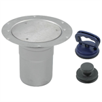 Floor Cleanout with Surface Membrane Clamp for Vacuum Handle - BCO-220