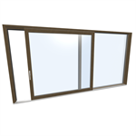 Slidingdoor double Wood-ALU Internorm HS330 A