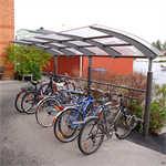 Seagull, bicylce shelter single sided, 10 bicycles