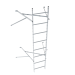 Wall ladder system with 850 offset
