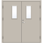 Steel Door SDE4210 GS1L - Double Equal