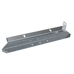 Console for roof ladder on metal/membrane roofs