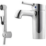 Mora One Basin Mixer with selfclosing handshower