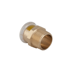 Geberit Mapress Cu Gas Adaptor with male thread